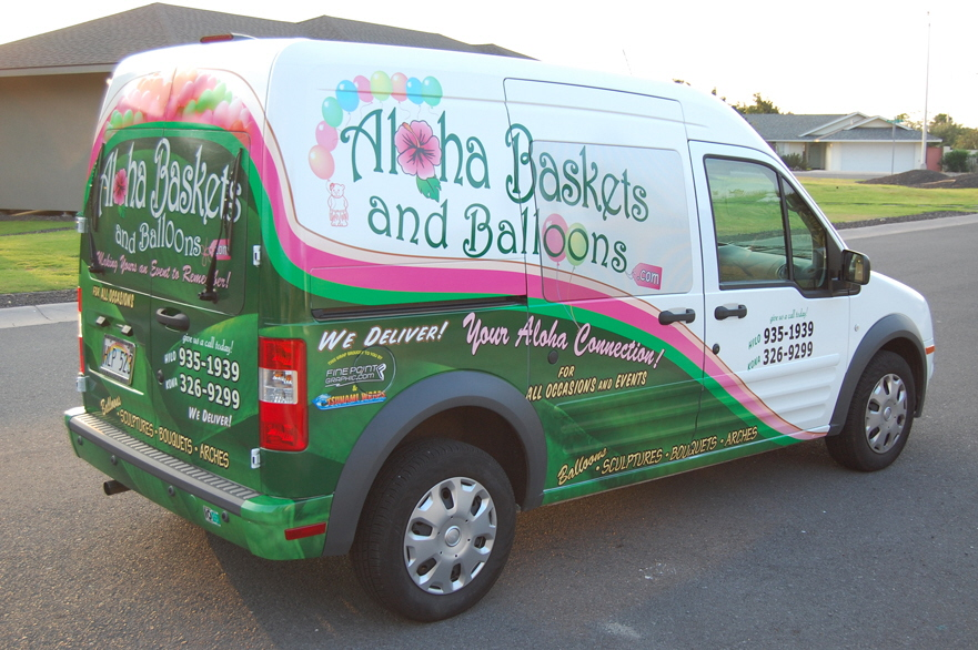 Ford Transit Wrap Aloha Baskets And Balloons